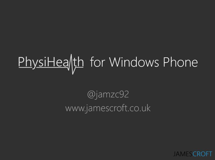 PhysiHealth for Windows Phone