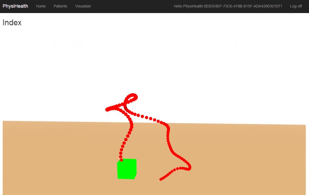 WebGL rendering of motion in 3D