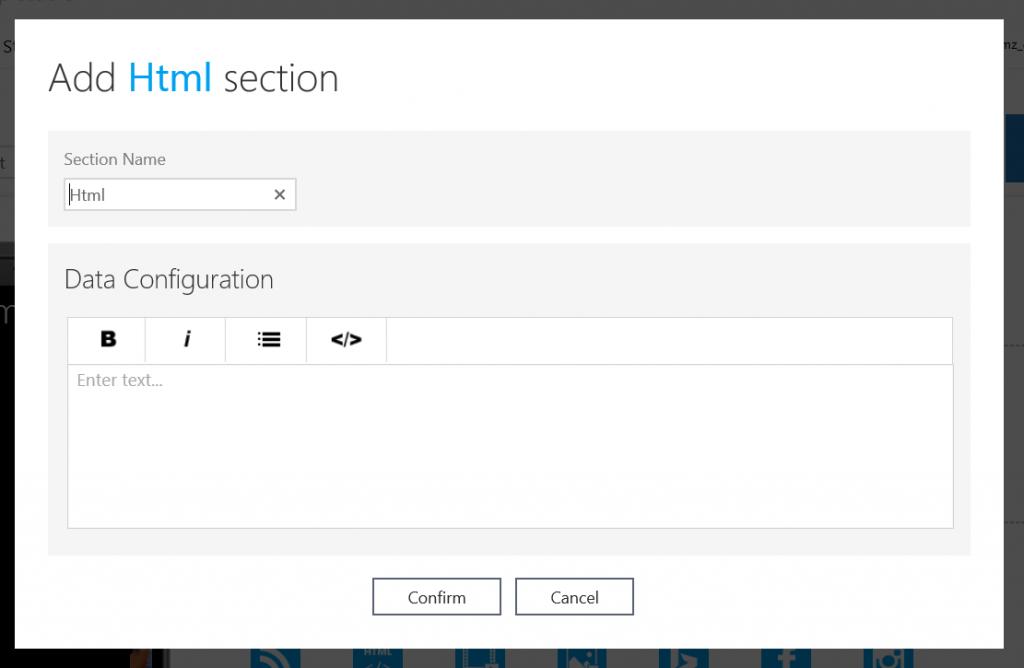 Adding custom HTML